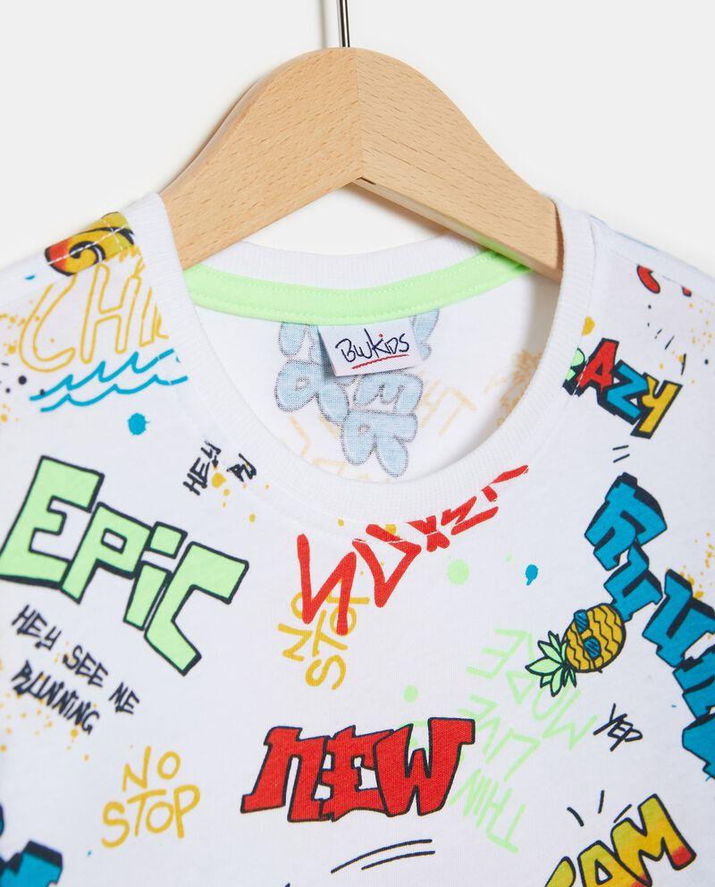 T-shirt puro cotone fantasia lettering
