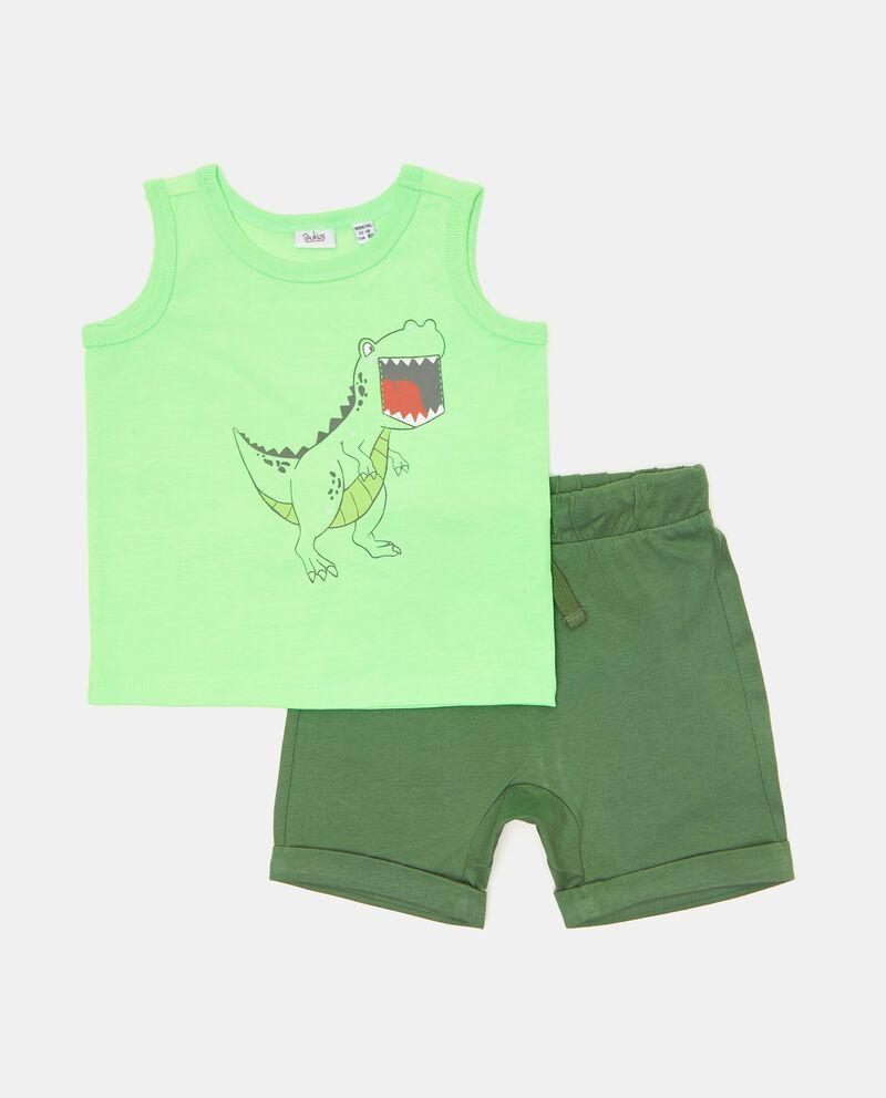 Set jogging di cotone organico neonatodouble bordered 0