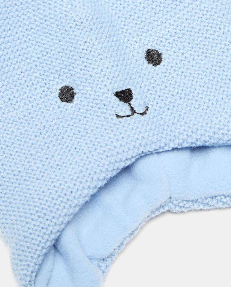 Berretto a forma di orsetto in maglia neonato single tile 1