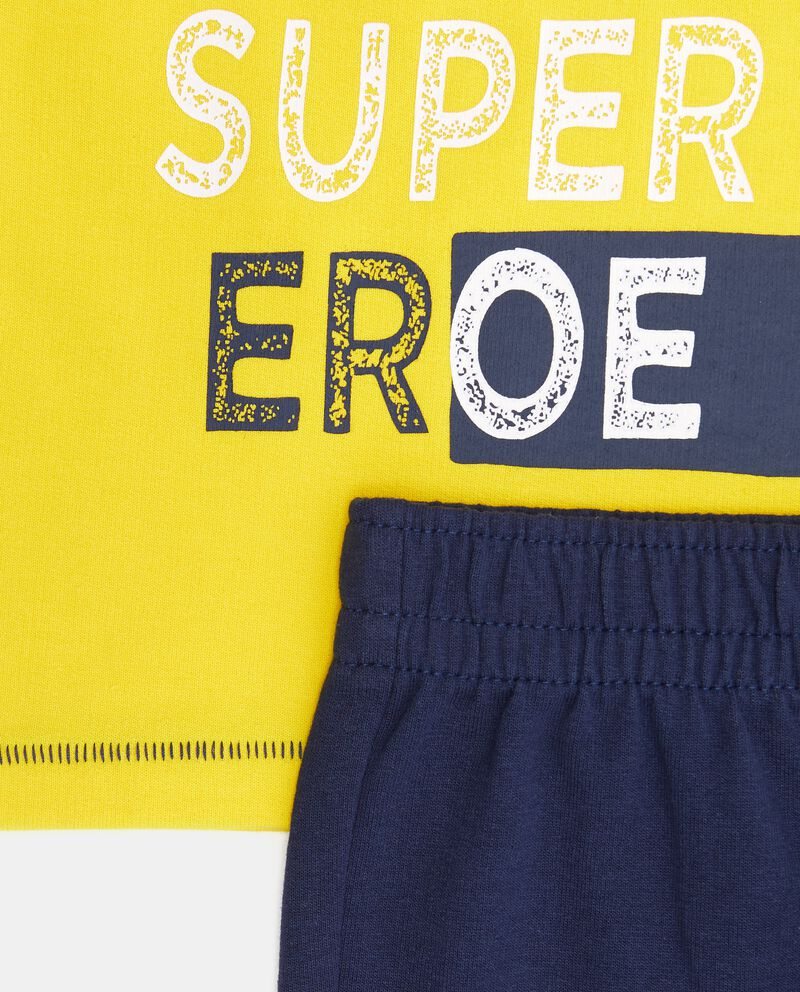 Set t-shirt stampa e pantaloni neonato