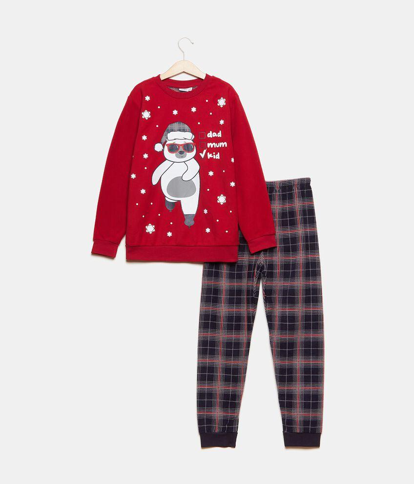 Set pigiama maglia e pantaloni a quadri