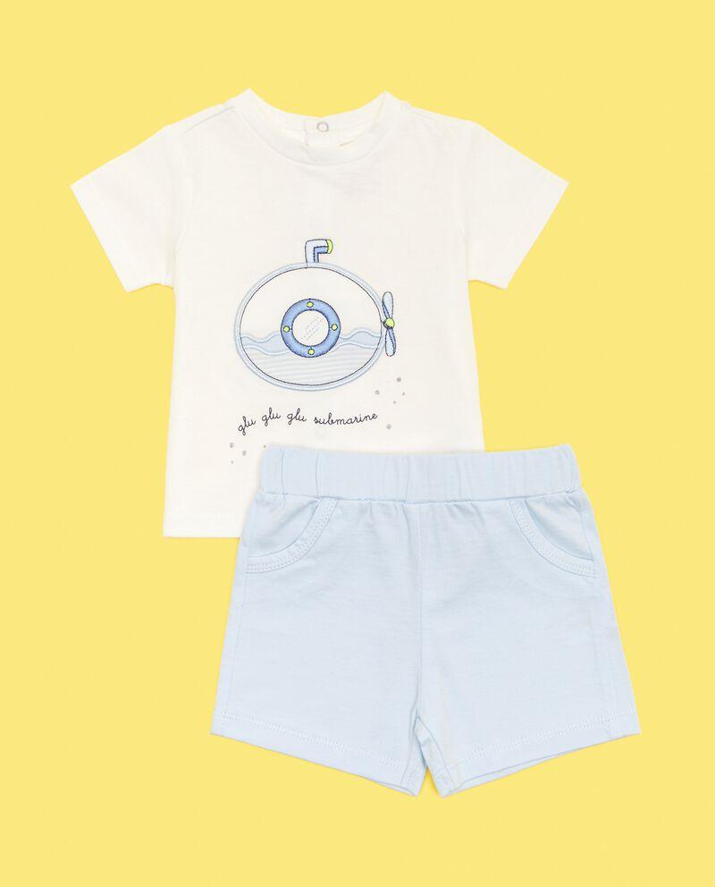 Set con t-shirt e shorts in puro cotone