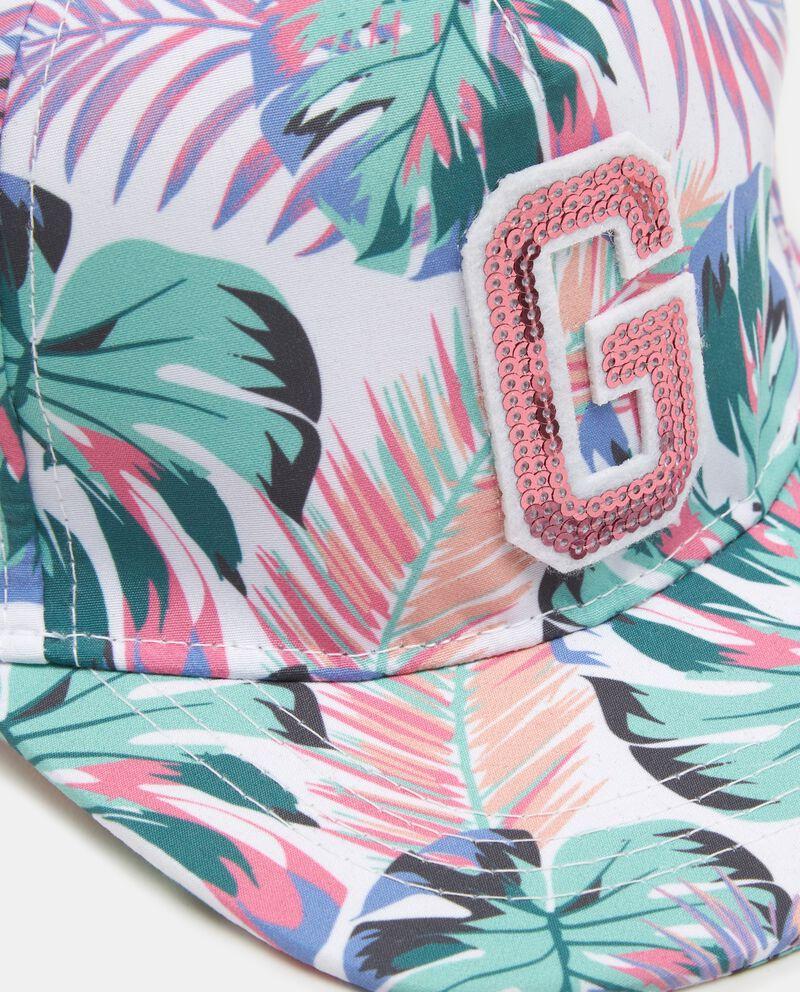 Cappellino baseball con fantasia tropicale bambina