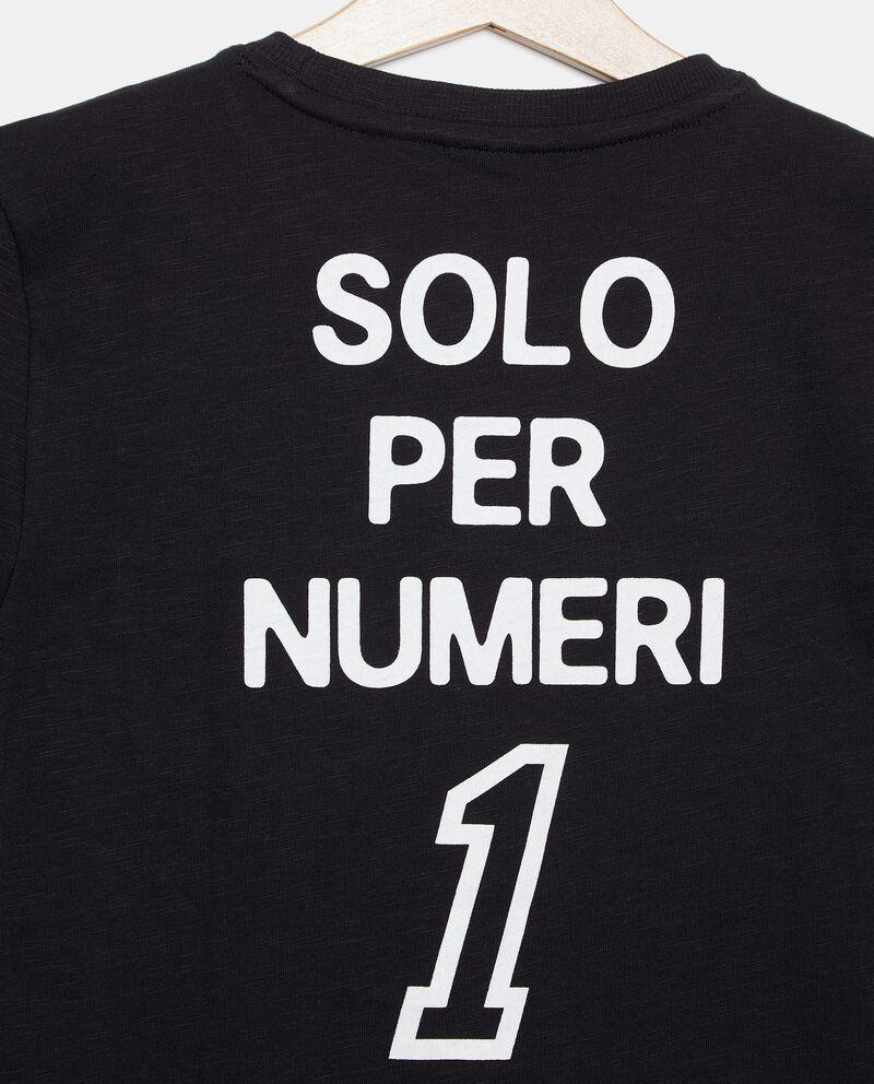 T-shirt in cotone organico jersey con taschino ragazzo single tile 1