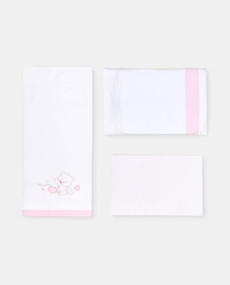 Tris culla in cotone con ricamo single tile 1