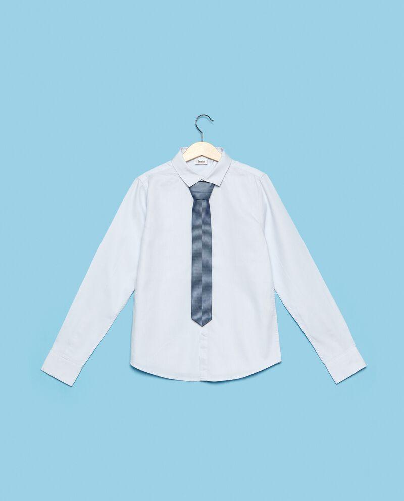 Camicia in puro cotone a maniche lunghe
