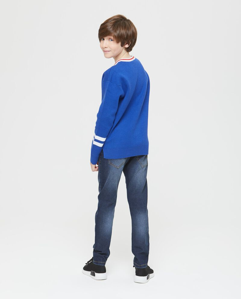 Pullover cotone tricot scollo a V