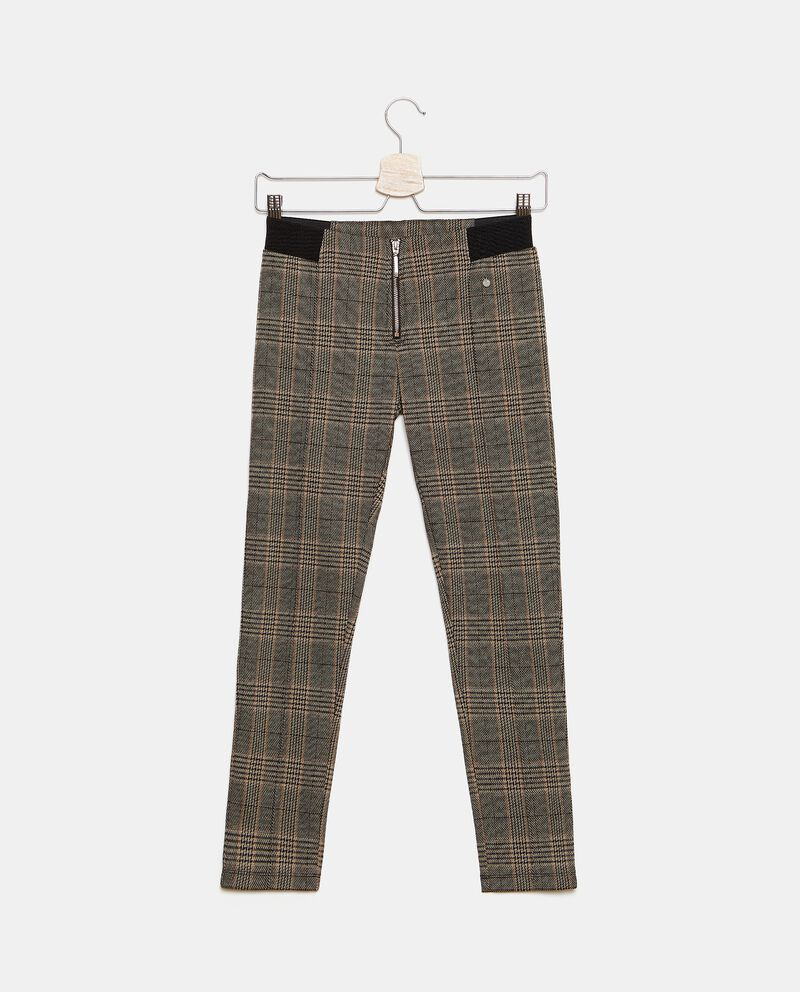 Pantaloni con fantasia principe di galles ragazza