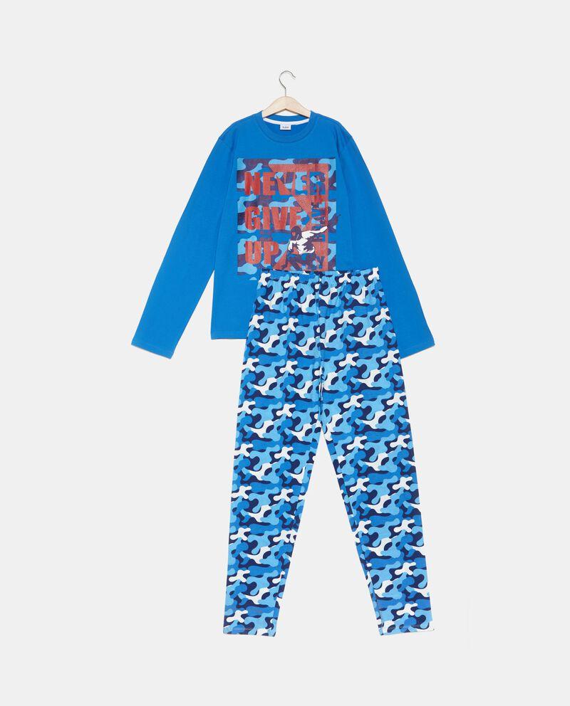 Set pigiama t-shirt e pantaloni a fantasia ragazzo