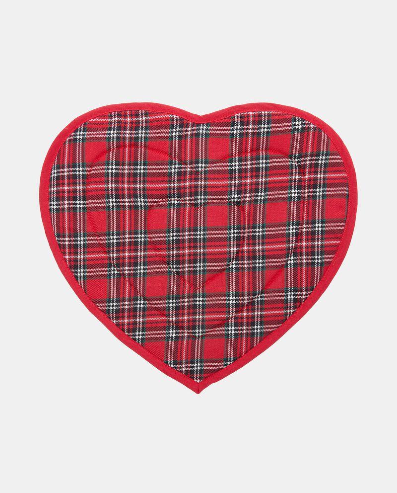 Tovaglietta a forma di cuore tartan
