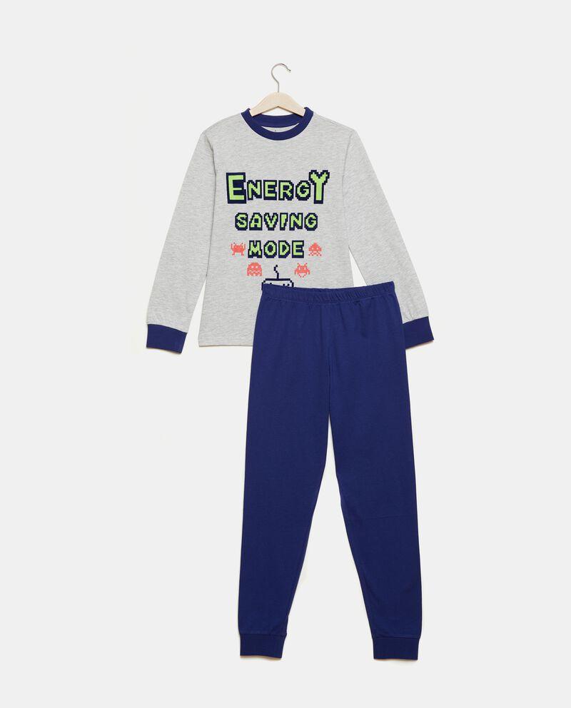 Set pigiama con maglia e pantaloni tinta unita