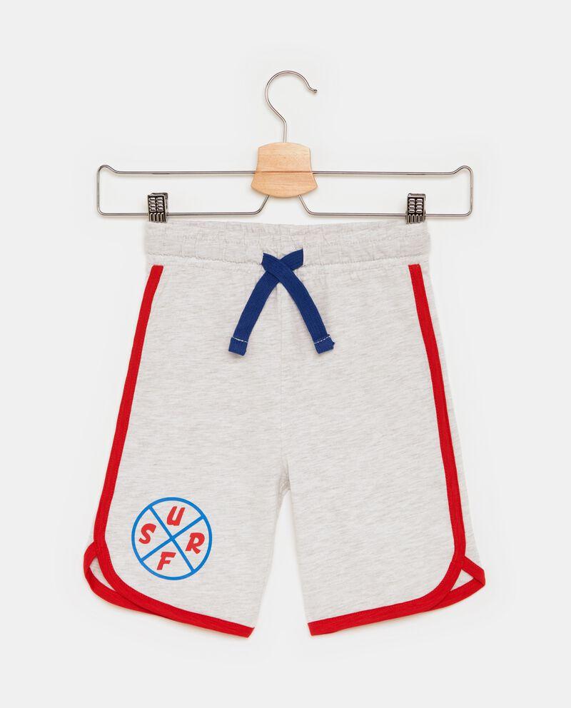 Shorts in cotone misto viscosa con profili a contrasto bambino