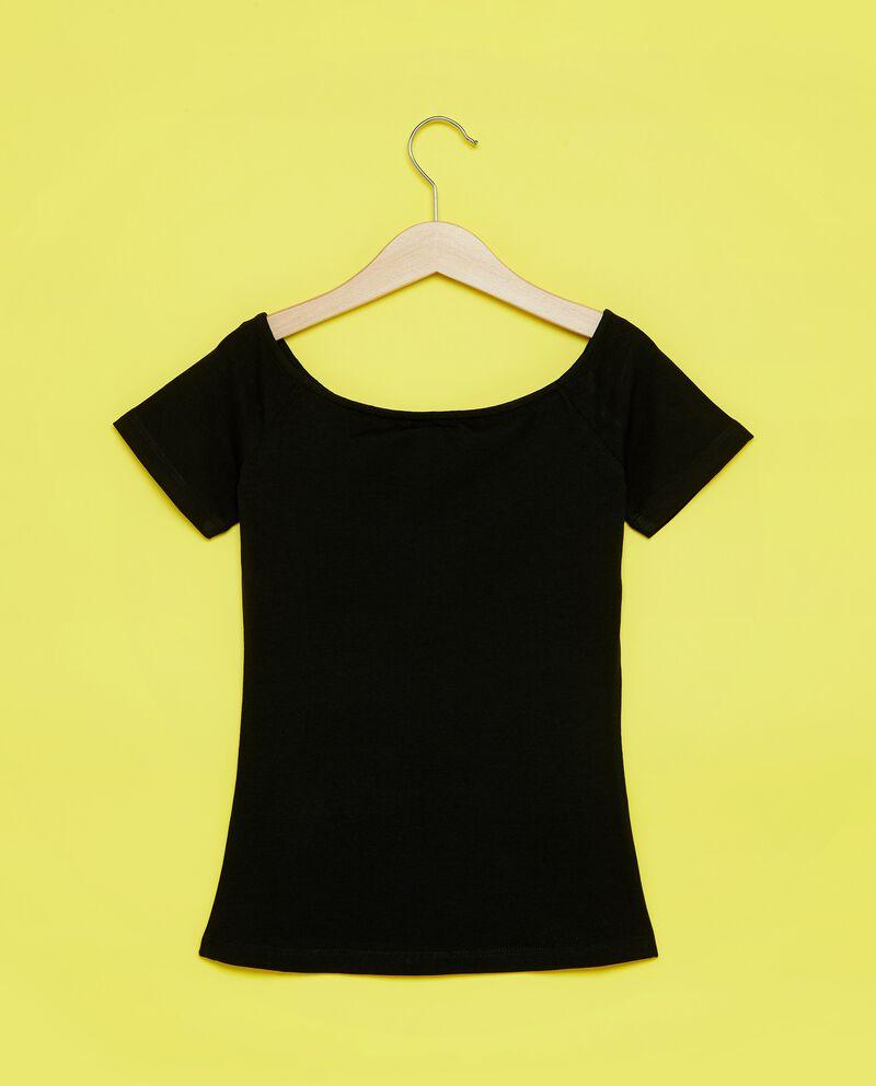 T-shirt a maniche corte con scollo a barca ragazza