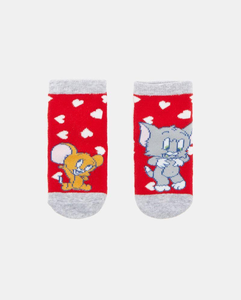 Calzini antiscivolo con stampa Tom & Jerry in cotone biologico