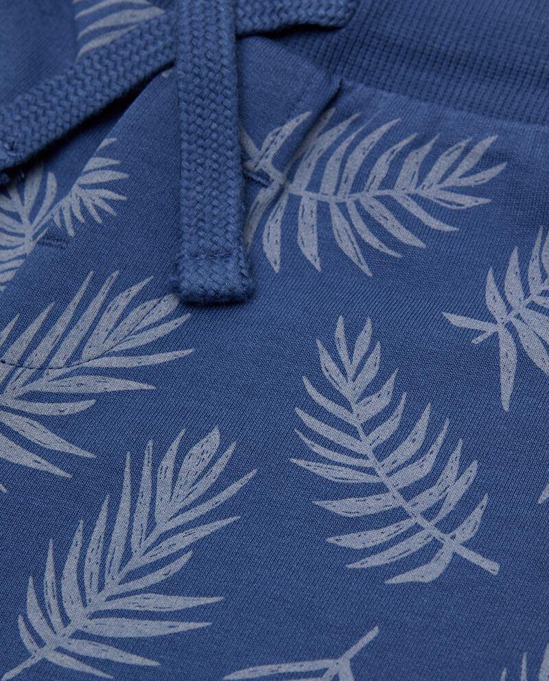Bermuda di cotone organico stampato all over neonato