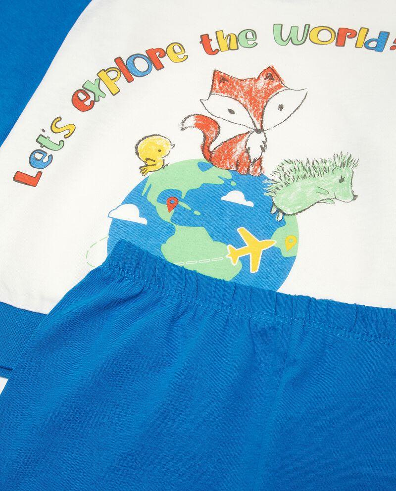 Set pigiama in puro cotone con stampa neonato