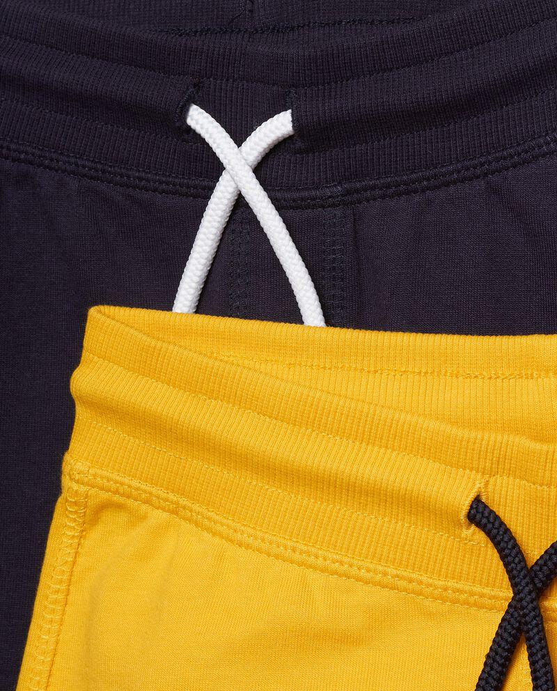 Set di due pantaloni comfort in puro cotone bambino