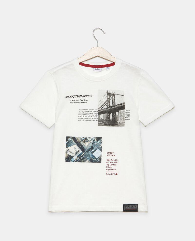 T-shirt stampata in cotone organico di jersey ragazzo