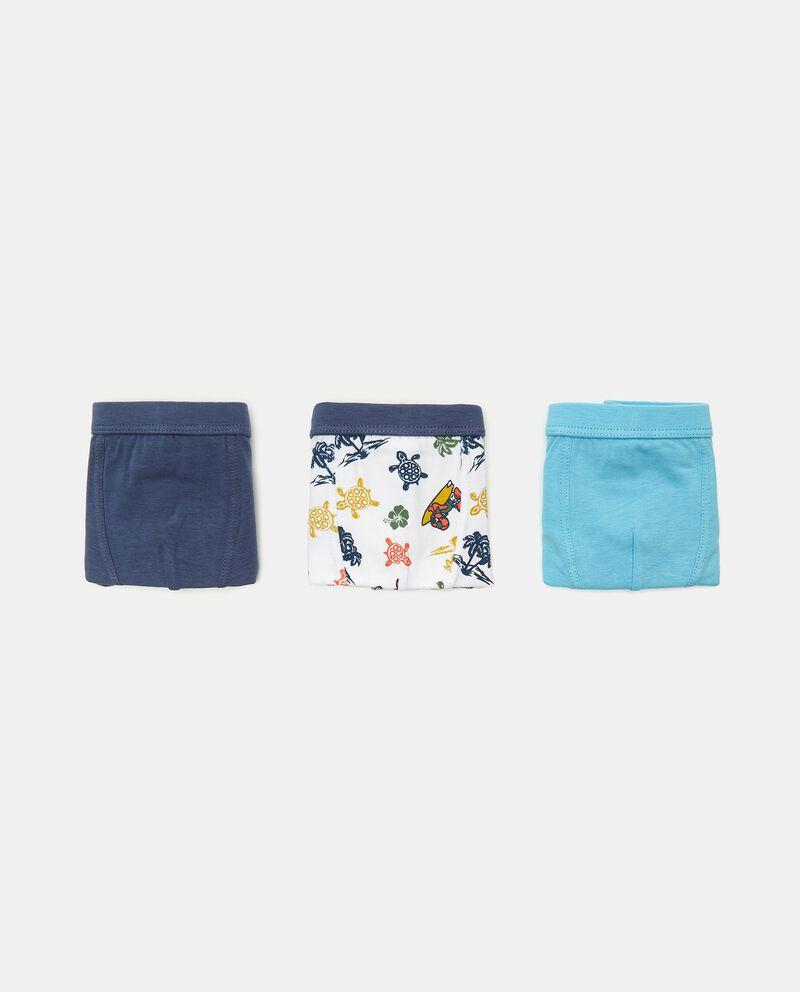 Set con 3 boxer di cotone elasticizzato bambino cover