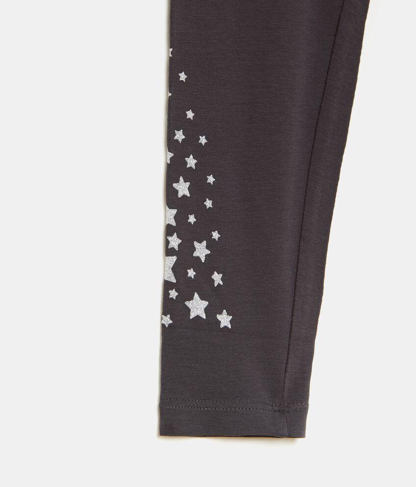 Leggings con stelline in glitter bambina