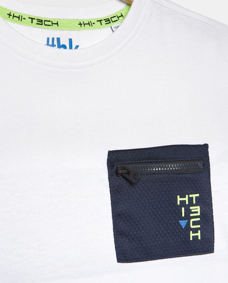 T-shirt con inserti in cotone organico ragazzo
