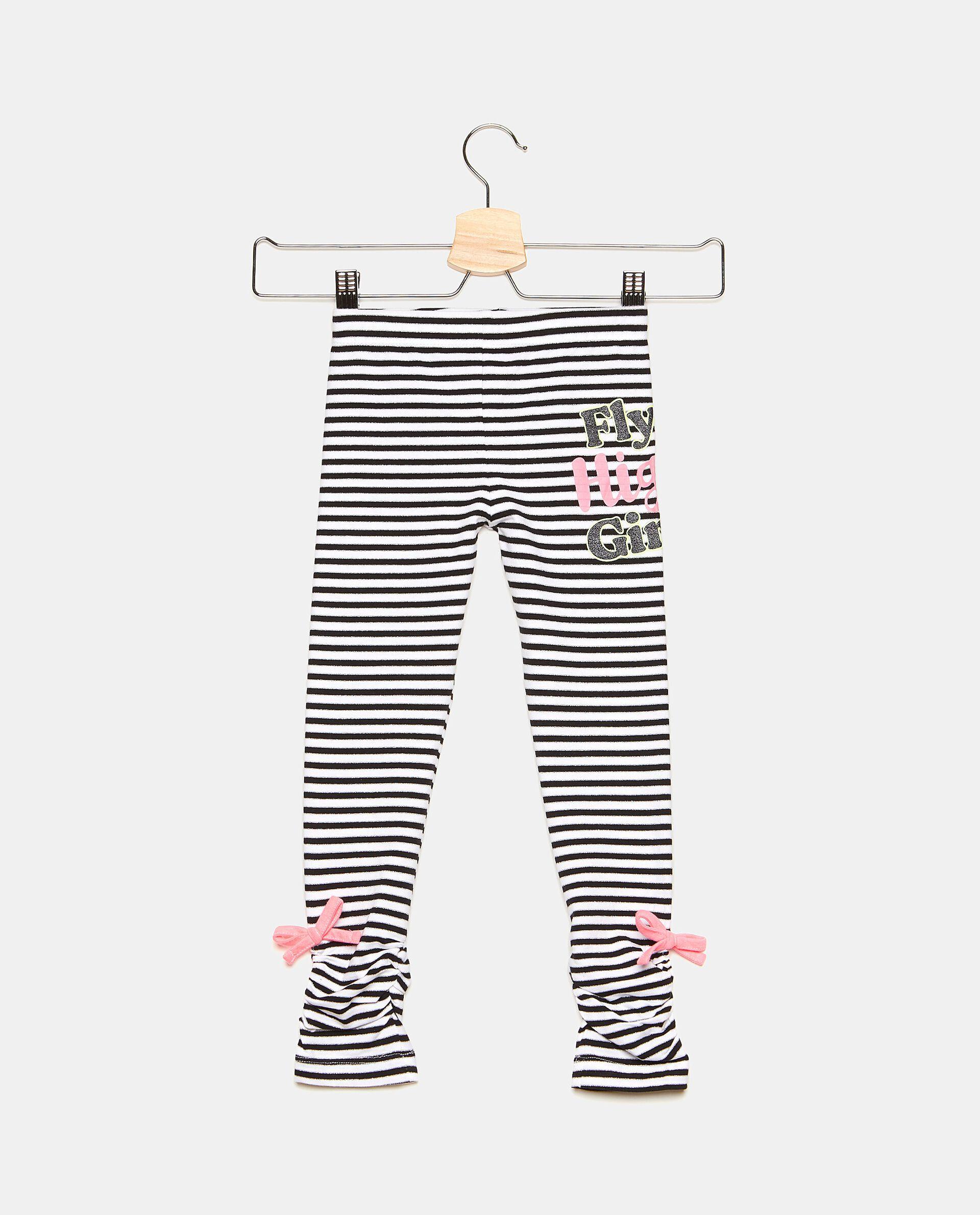 Leggings in cotone elasticizzato con filo lurex bambina
