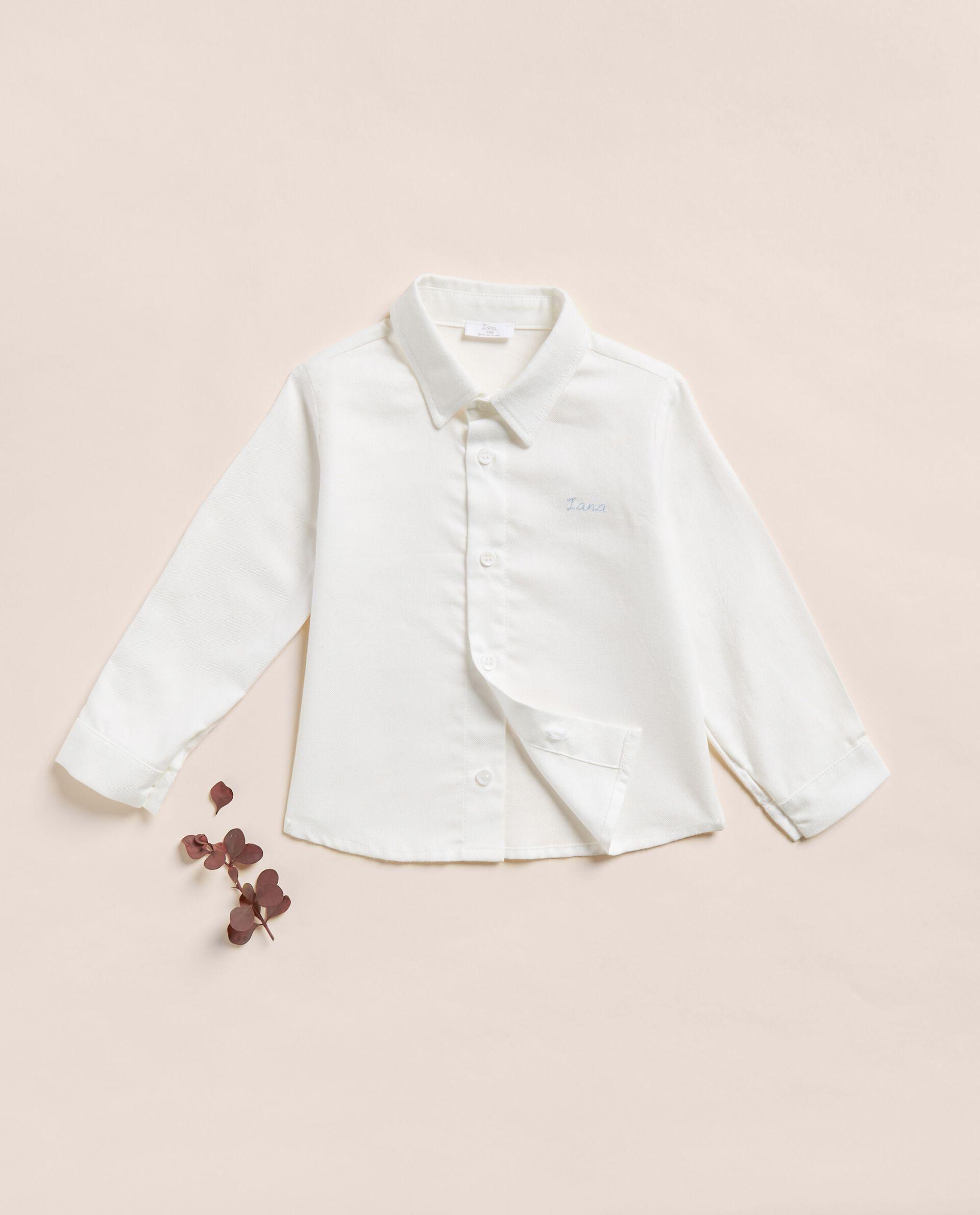 Camicia a maniche lunghe in cotone misto modal neonato IANA Made in Italy