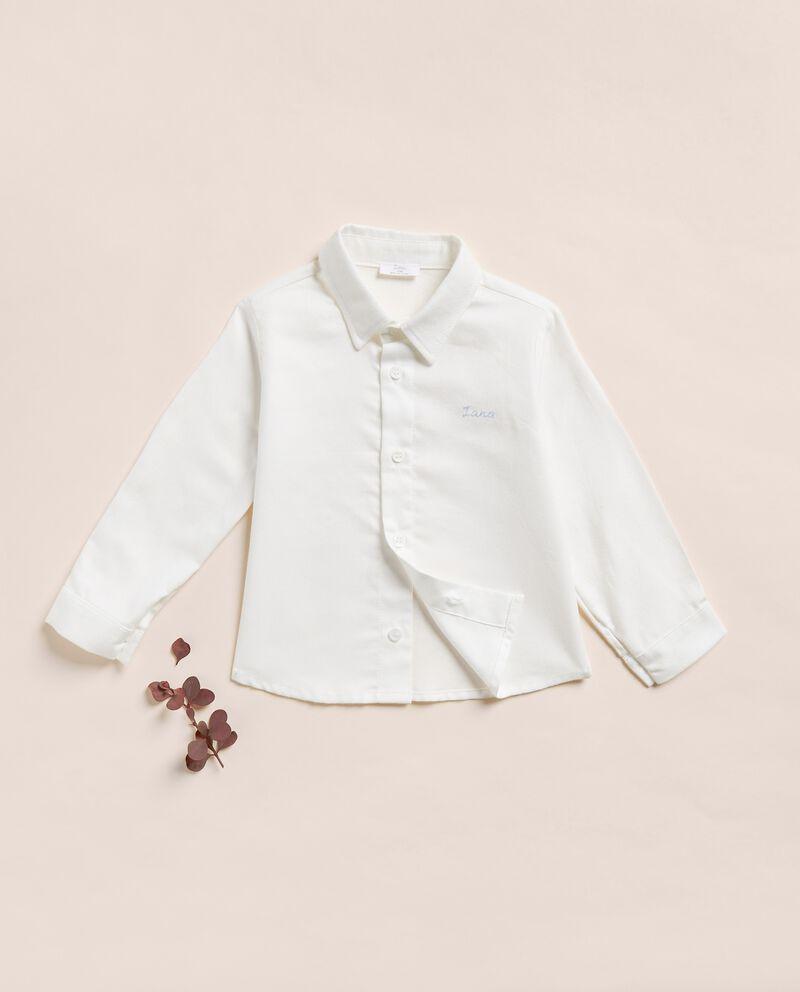 Camicia a maniche lunghe in cotone misto modal neonato IANA Made in Italy cover
