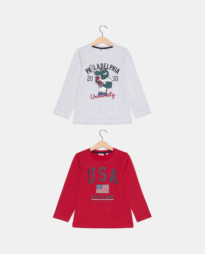 Pack di 2 t-shirt in cotone biologico bambino cover