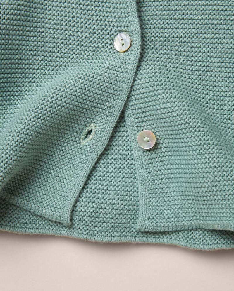 Cardigan in maglia di puro cotone single tile 1