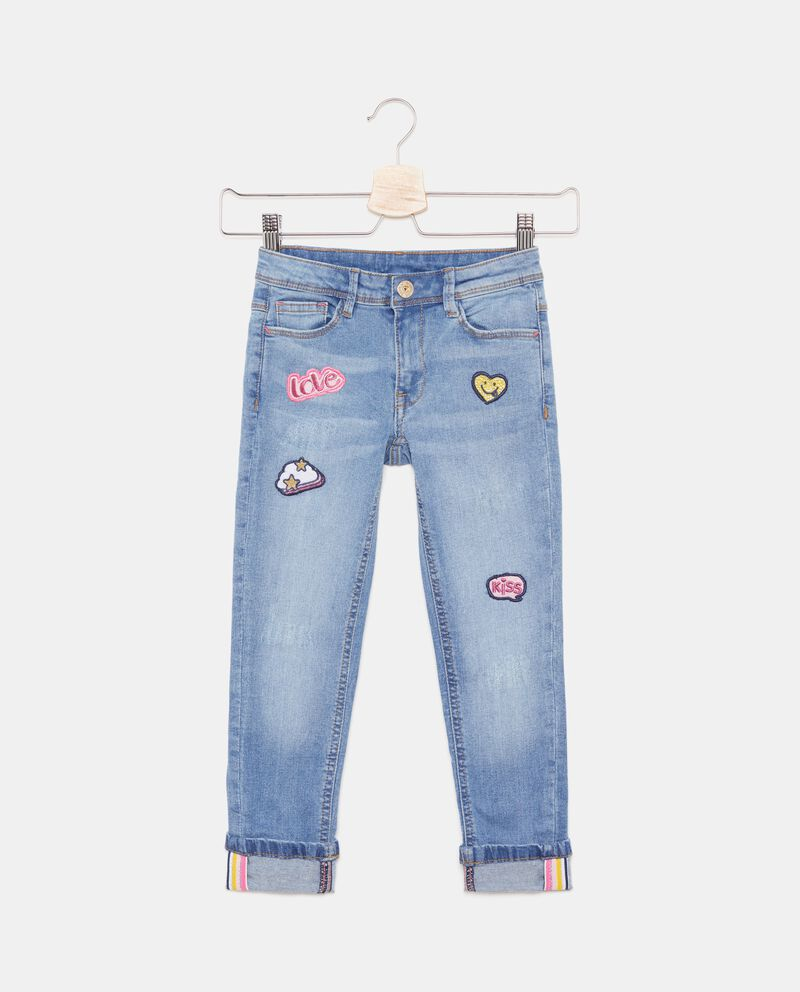 Jeans con patch applicati bambina