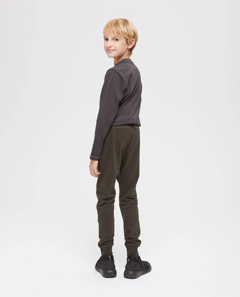 Pantaloni puro cotone con tasche