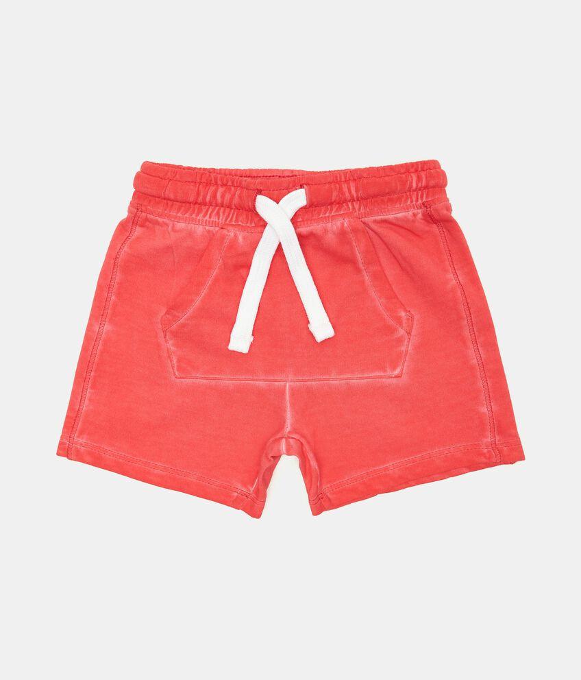 Shorts di felpa in cotone organico neonato double 1