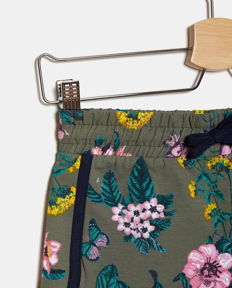 Shorts in felpa cotone organico stretch ragazza