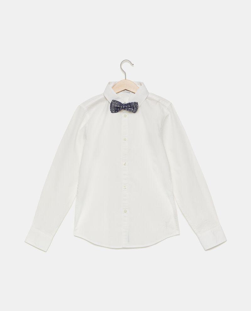 Camicia in puro cotone tinta unita ragazzo