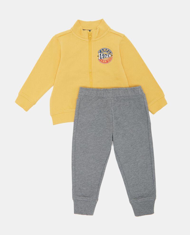 Set felpa e pantaloni mélange neonato