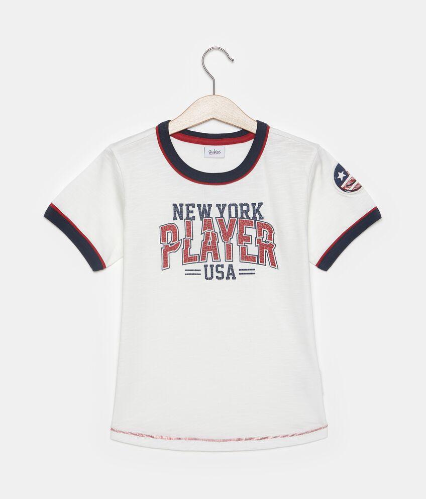 T-shirt con stampa in puro cotone bambino