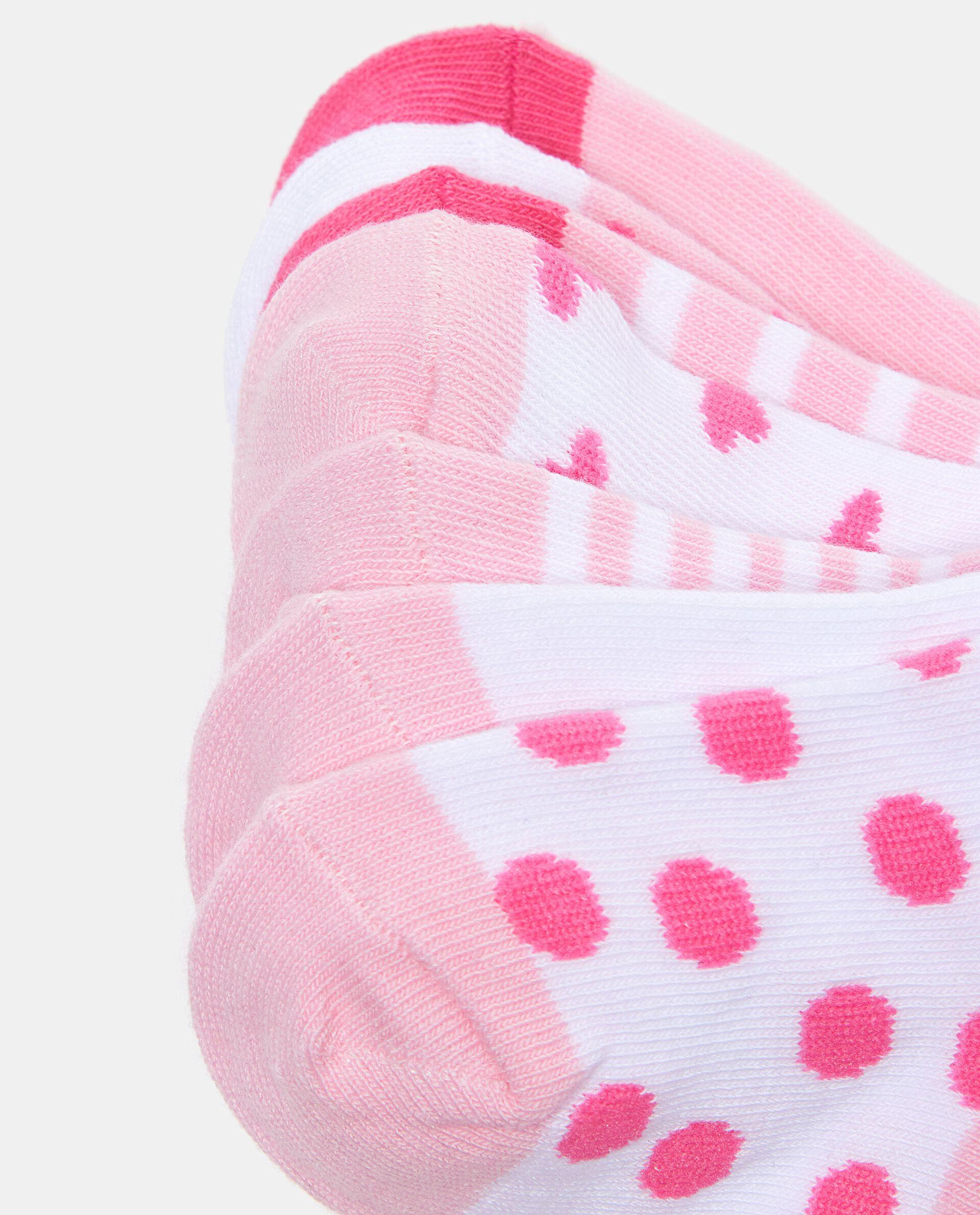 Set con sette paia di calzini in cotone elasticato neonata