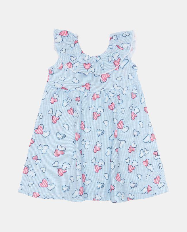 Vestito smanicato in cotone jersey organico neonata