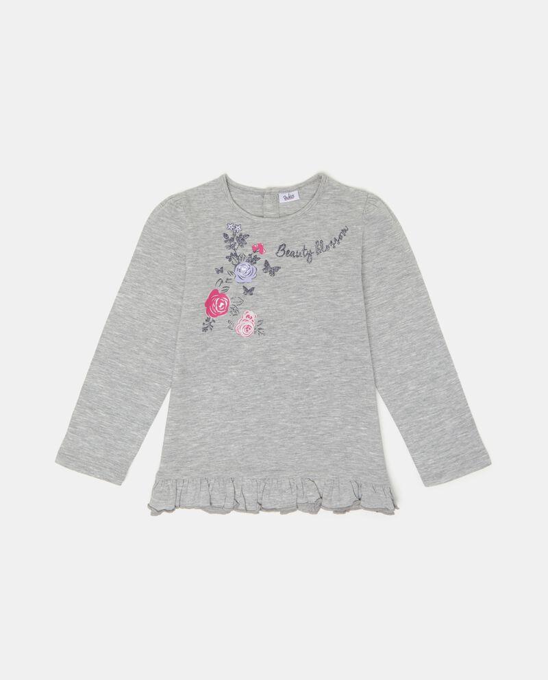 T-shirt ruche con effetto mélange neonata