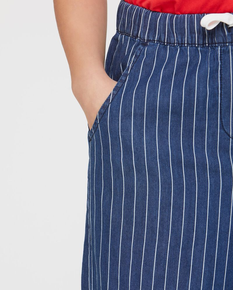 Pantaloni vita elasticata fantasia righe