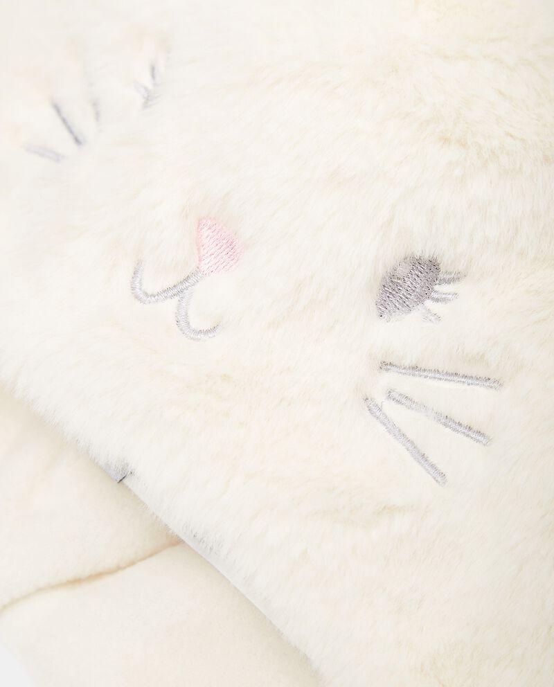 Cappellino a forma di gatto in eco pelliccia neonata single tile 1