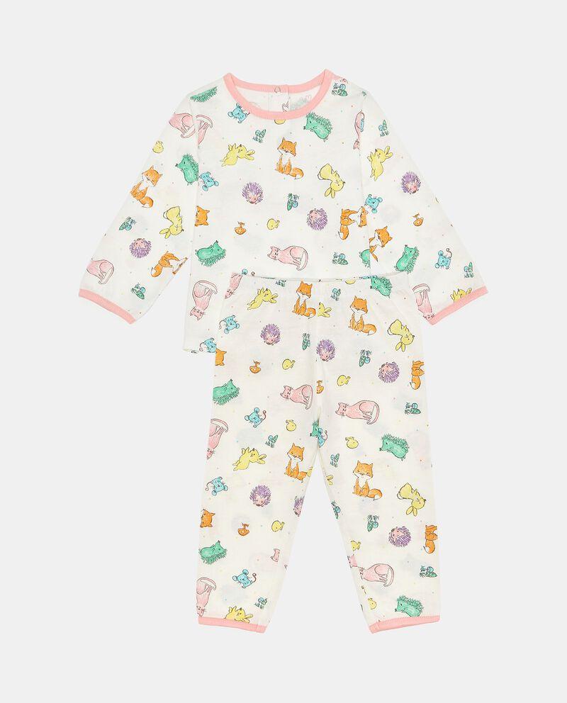Set pigiama in puro cotone fantasia neonata
