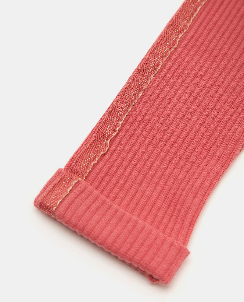 Pantaloni a costine con bande laterali neonata single tile 1