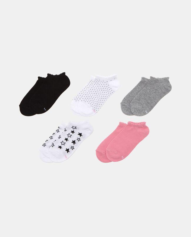 Set cinque calze tinta unita e fantasia