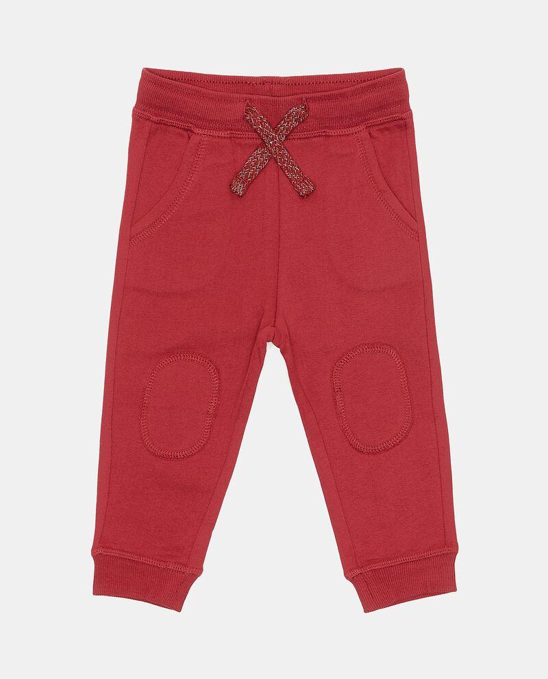 Pantaloni in puro cotone tinta unita neonato cover