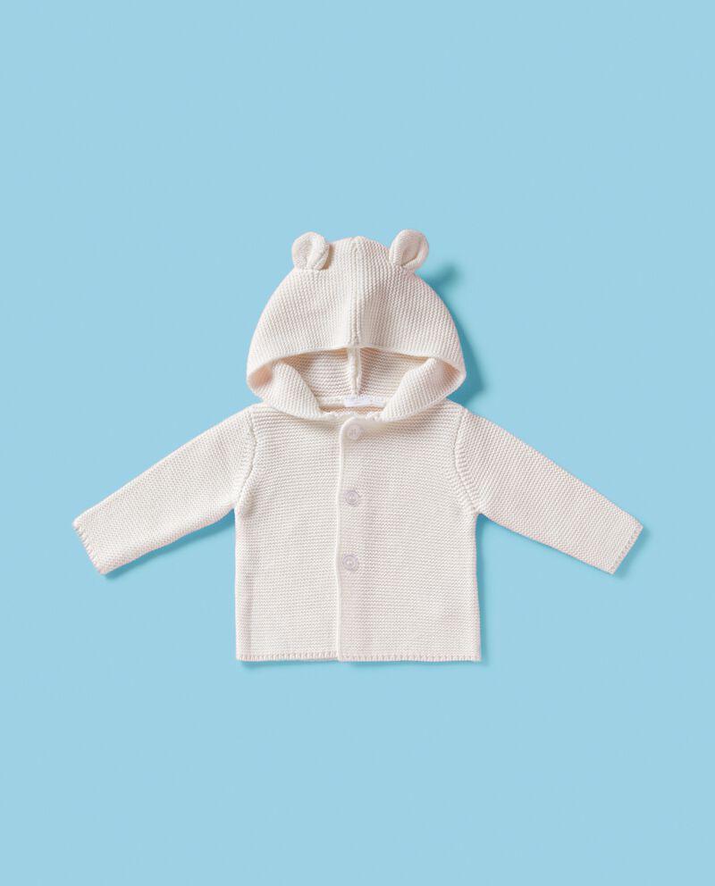 Golfino con cappuccio in puro cotone neonato