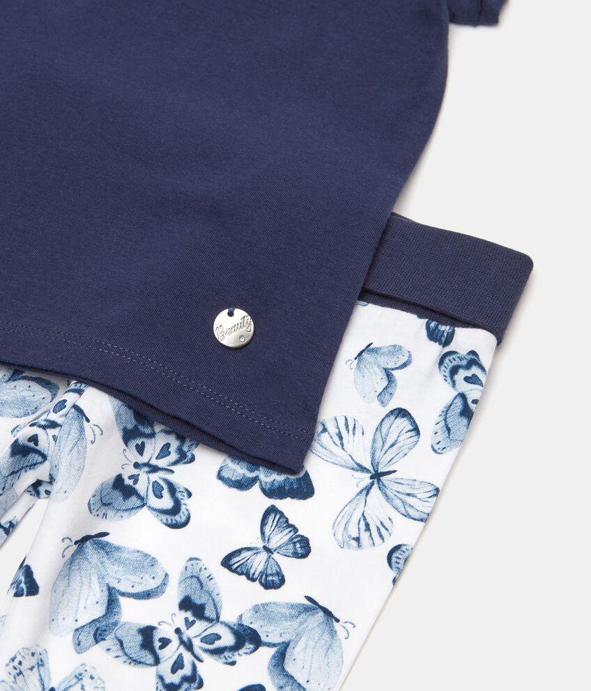 Completo in jersey elasticizzato di cotone organico neonata