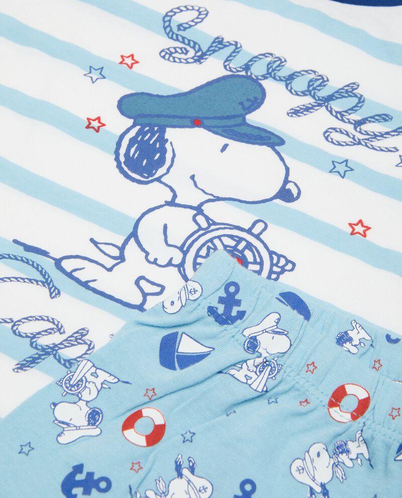 Pigiama neonato Snoopy in puro cotone biologico