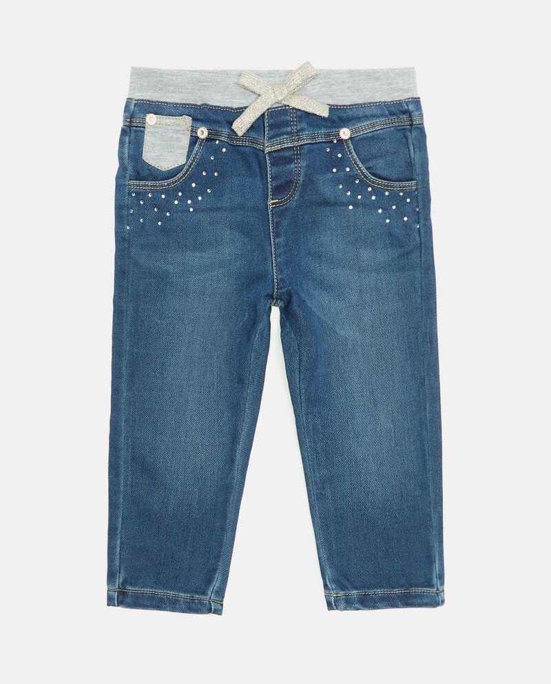 Pantalone in denim con strass neonatadouble bordered 0